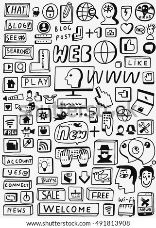 Web doodles set