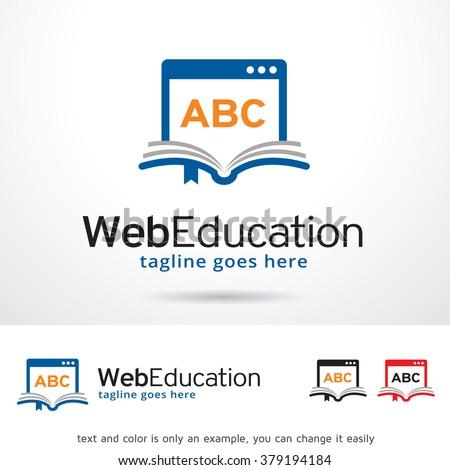 Web Education Logo Template Design Vector - stock vector