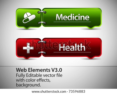 Web Element and icon Design Template, editable illustration - stock vector
