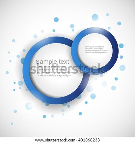 Web element design, vector, website.EPS10 Vector Abstract Web Design Bubble  - stock vector