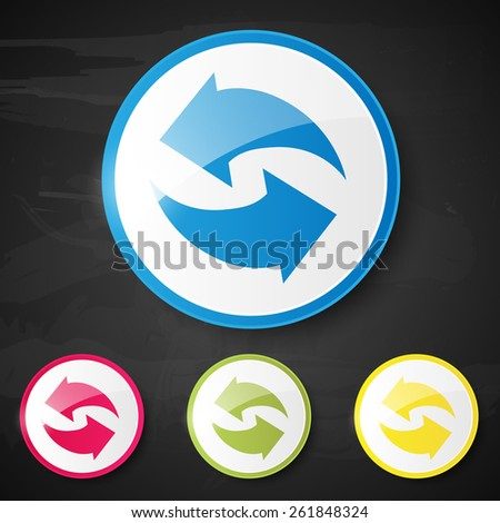 Web element. Recycle. Vector illustration. - stock vector