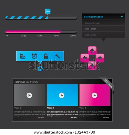 Web Elements - stock vector