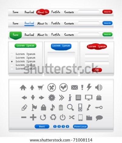 Web elements pack