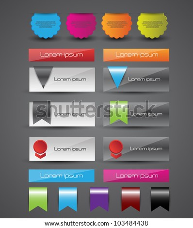web elements set - stock vector