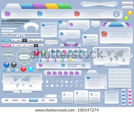 Web Elements Vector Design - stock vector