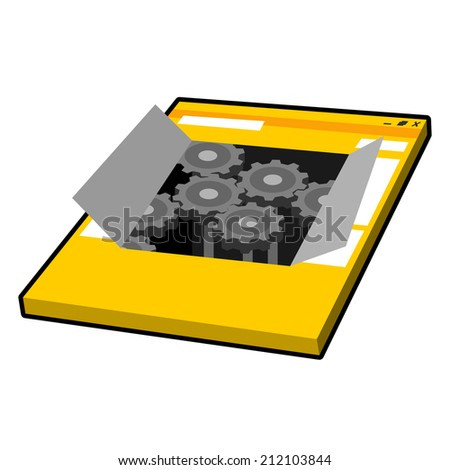 Web Engine Icon Vector Illustration - stock vector