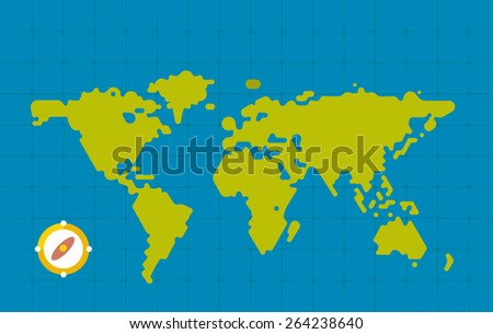 Web flat map illustration - stock vector