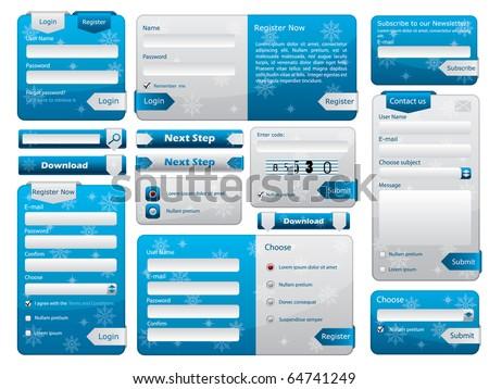 Web form design christmas edition - stock vector
