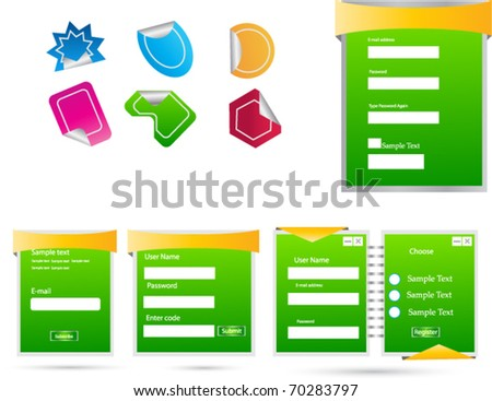 web forms and tags - stock vector