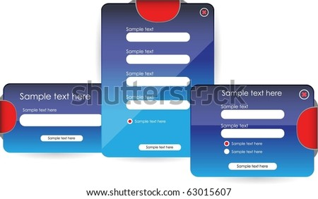 web forms or banners - stock vector