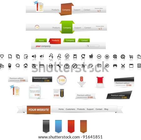 Web graphic collection - startup kit - stock vector
