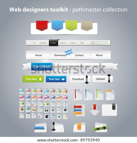 Web graphics collection - stock vector