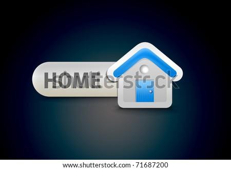 web home icon design element. - stock vector