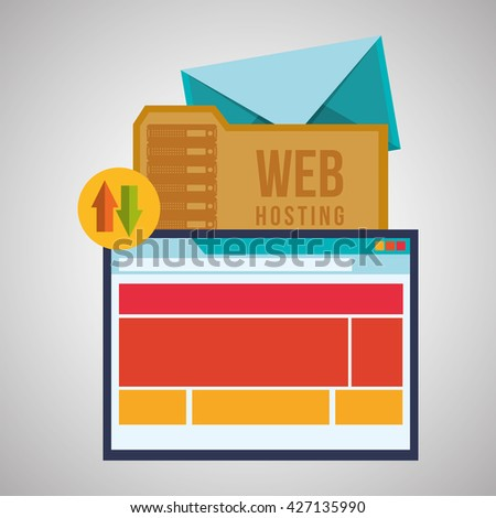 Web Hosting design. Data center  icon. Isolated illustration