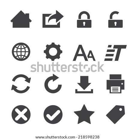 web icon - stock vector