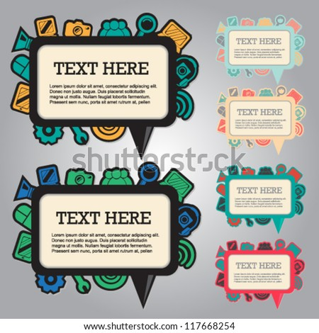 Web icon banners - stock vector