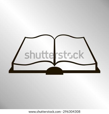 web icon book - stock vector