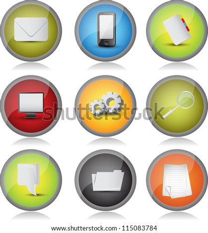 web icon/button set - stock vector