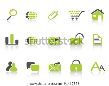 web icon green nature series - stock vector
