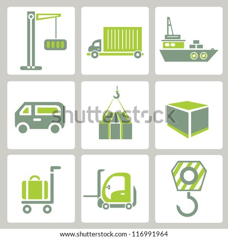 web icon, internet icon, business icon set, green icon set - stock vector