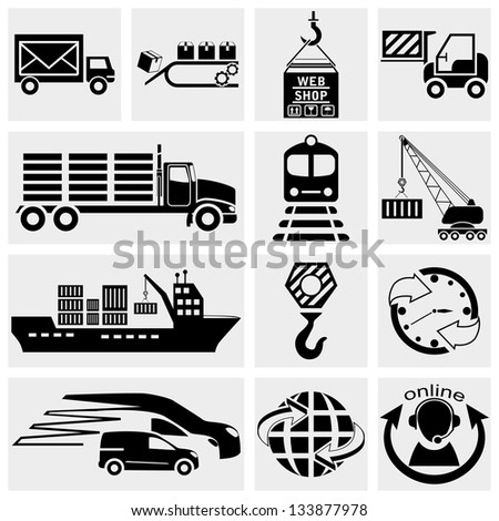 Web icon, internet icon, business icon, supply chain, shipping, shopping and industry icons set. Vector icon. - stock vector