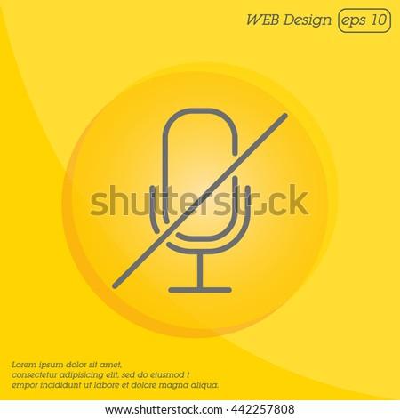 Web icon. Mute - stock vector