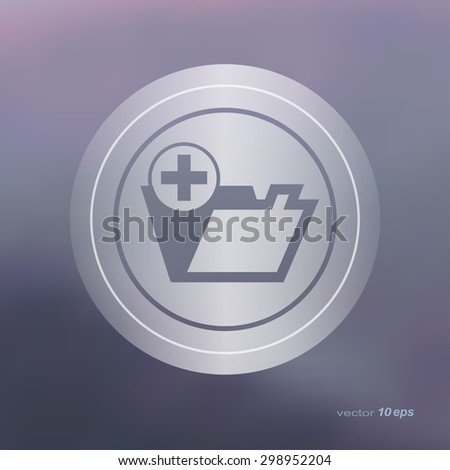 Web icon on the blurred background. Folder Symbol.  Vector illustration - stock vector