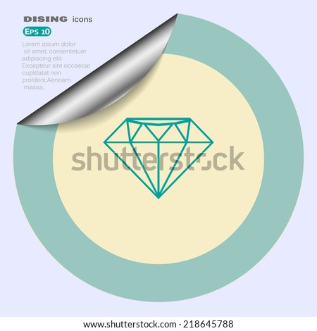 Web icon on the label. vector design - stock vector