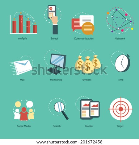 Web Icon Set - stock vector