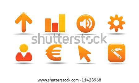 Web icon set 3 | Pumpkin series - stock vector