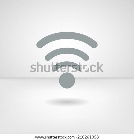 Web icon. Wifi - stock vector