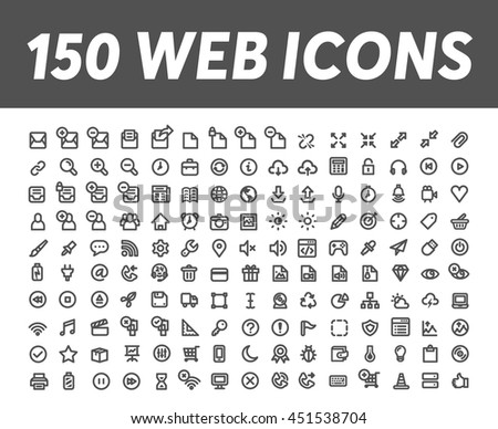 Web icons 4 - stock vector