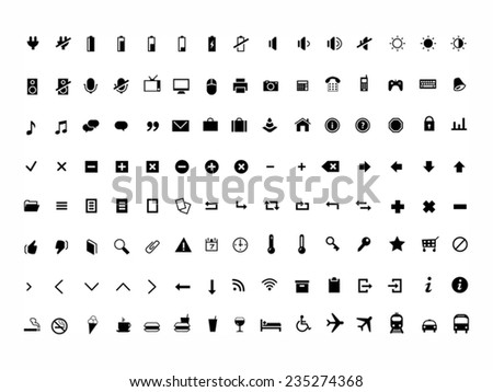web icons and pictogram