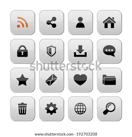 Web icons/ buttons, vector.