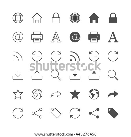 Web icons, included normal and enable state. - stock vector