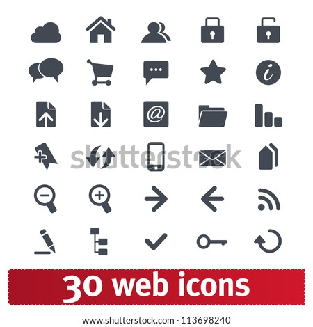 Web icons: internet vector set - stock vector