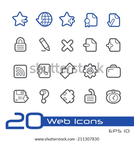 Web Icons // Line Series - stock vector