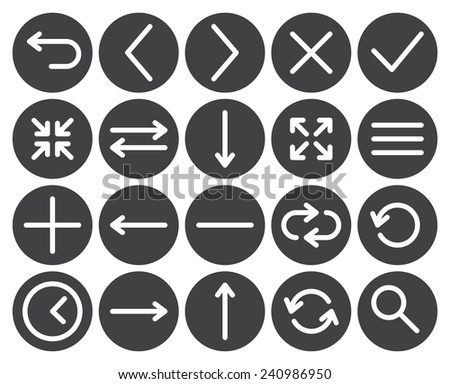 Web icons (modern flat design) - stock vector