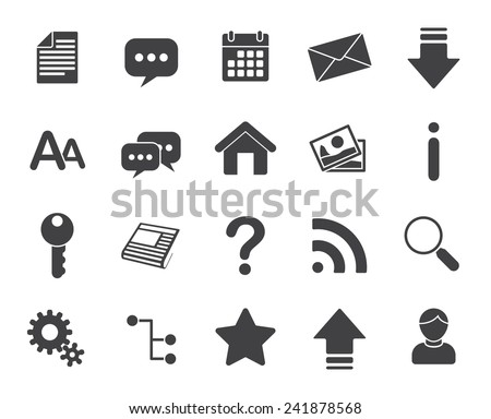 Web icons (modern flat design) - stock vector