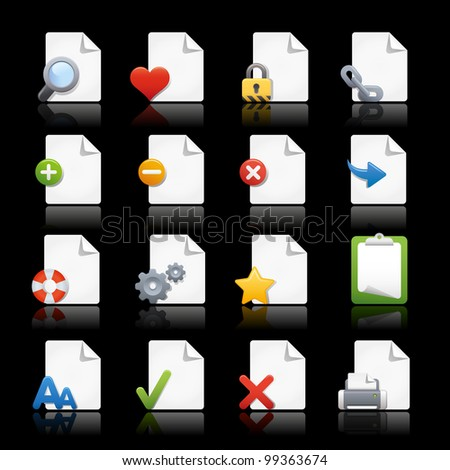 Web Icons / / Pages - stock vector