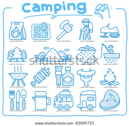 Web Icons,picnic & camping  icons, travel & holiday icons, icons Set, web buttons - Vector , interface,