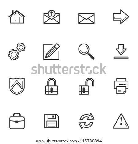 Web Icons - Set 1 - stock vector