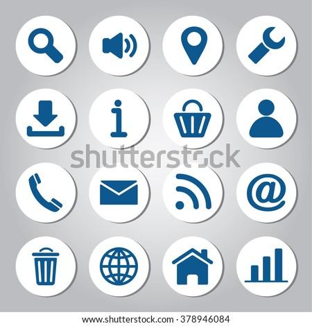Web icons set. Elements of modern icons for user interface. - stock vector