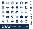 Web icons set. Hand drawn sketch illustration isolated on white background - stock vector