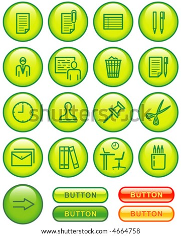 Web Icons Set – Office (Vector) You'll find more icons in my portfolio - stock vector