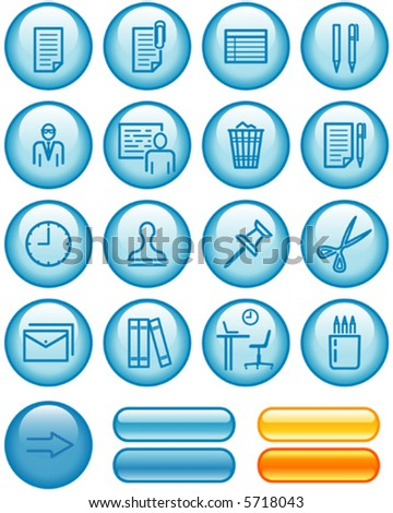 Web Icons Set – Office (Vector) You'll find more vector icons in my portfolio - stock vector