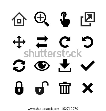 Web icons set. Toolbar, edit and customize icon - stock vector
