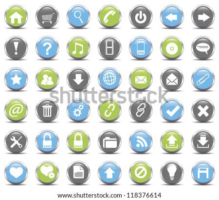 Web Icons set.Vector - stock vector