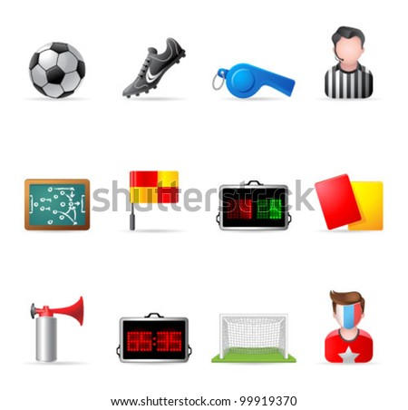 Web Icons - Soccer - stock vector