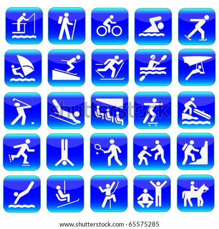 Web icons sport set.Vector - stock vector